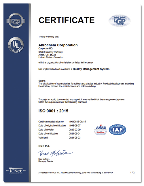 ISO 9001 Accredidation